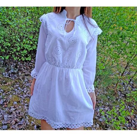 Sukienka boho biała rozm. S/M/L