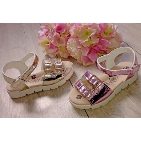 ZŁote, srebrne i różowe sandałki r. 25-30