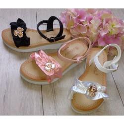 Białe, różowe i czarne sandałki r. 28-35